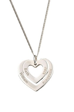 Personalised Double Heart Sterling ...