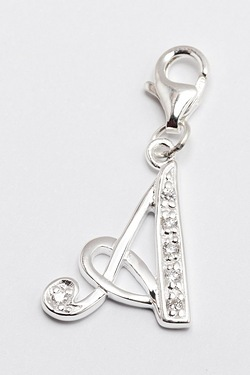 Personalised Initial Charm For Silv...