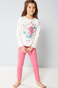 Girls Personalised Pyjamas - Sparkly Cloud Dreamer