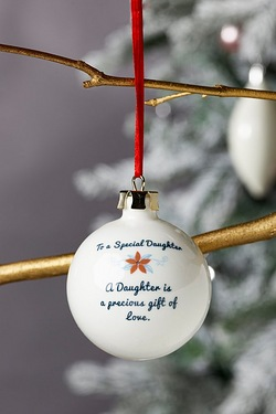 Personalised Special Bauble - Daughter