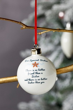 Personalised Special Bauble - Sister