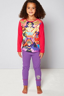 Girls Personalised DC Comics Superheros Pyjamas