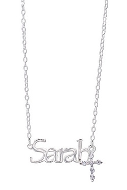 Personalised Name With CZ Cross
