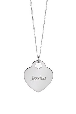 Personalised Heart Padlock Pendant