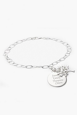 Personalised Silver Tree Of Life Br...