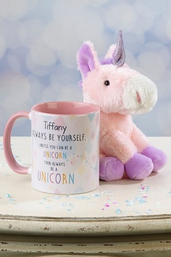 Personalised Unicorn Mug and Plush