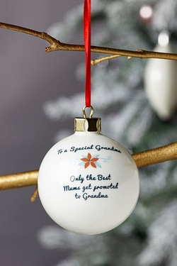 Personalised Special Bauble - Grandma