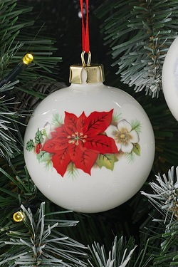 Personalised Bauble - Poinsettia