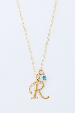 Personalised 9ct Initial Birthstone...