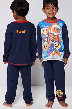 Personalised Boys Go Jetters Go Pyjamas