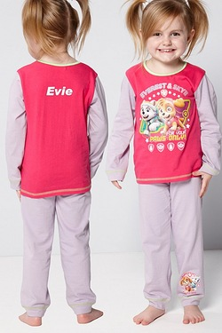 Personalised Girls Paw Patrol Everest and Syke Pyjamas