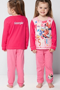 Personalised Girls Minnie Mouse Smile Pyjamas