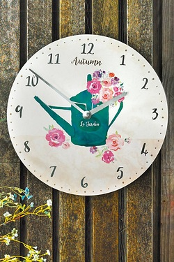 Personalised Floral Fusion Clock