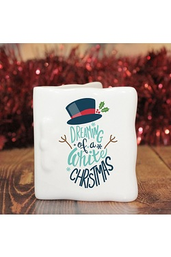 Personalised White Christmas Messag...