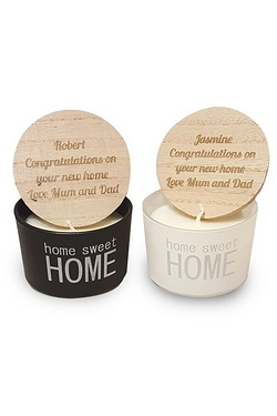Personalised Mr and Mrs Home Sweet Home Scented Candles
