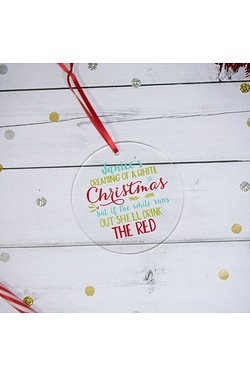 Personalised White Christmas Acryli...