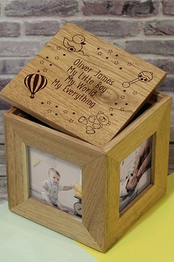 Personalised Nursery Scene Photo Cube