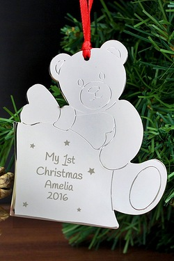 Personalised Teddy My 1st Tree Deco...