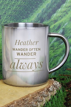 Personalised Any Message Metal Mug