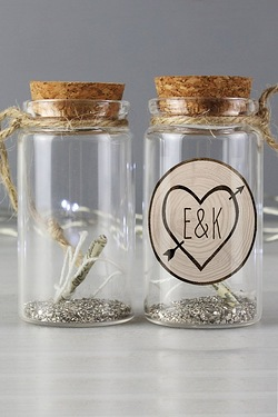 Personalised Wood Carving Hanging Message in a Bottle