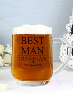 Personalised Mr and Mrs Best Man Tankard