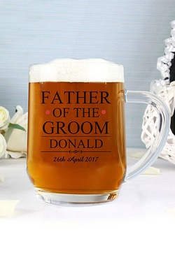 Personalised Mr and Mrs Father of the Groom Tankard