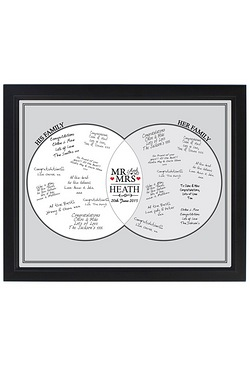 Personalised Mr and Mrs Black Signing Frame