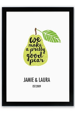 Personalised Great Pear Poster