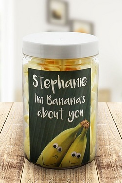 Personalised Im Bananas About You – Foam Bananas