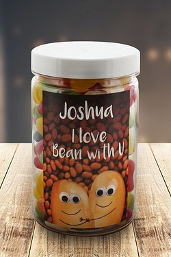 Personalised I Love Bean With You – Jelly beans