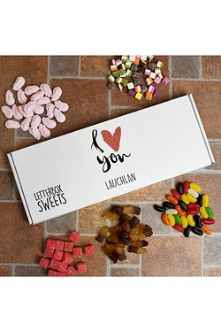 Personalised Letterbox Sweets Heart Collection