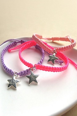 Braided Personalised Star Bracelet