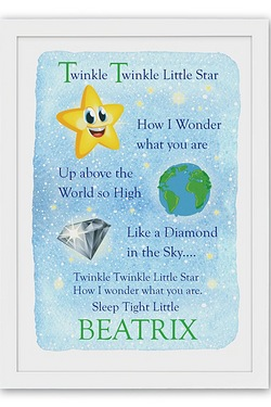 Personalised Poster - Twinkle Twink...