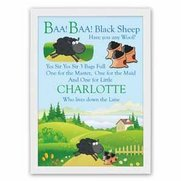 Personalised Poster - Baa Baa Black...
