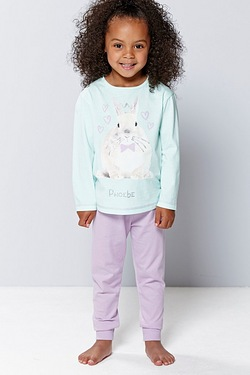 Girl's Personalised Pyjamas - Rabbit