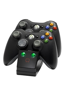 Twin Charge Cradle - Black - Xbox 360