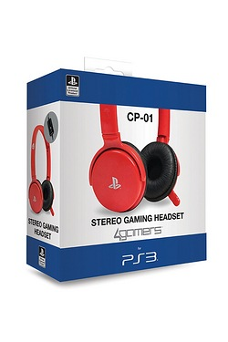 CP01 Gaming Headset Red - PS3