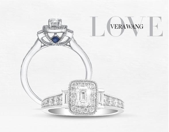 Find the perfect piece of diamond and sapphire jewellery from top bridal designer Vera Wang at Ernest Jones this Christmas
