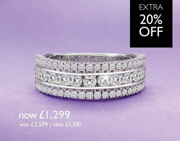 Diamond Eternity Rings - now £1,299 - at Ernest Jones