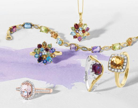 Explore the Ernest Jones Gemstone Collection now to find the perfect piece of jewellery set with stunning coloured gemstones