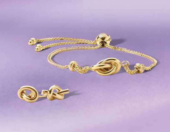 Shop for luxurious gold jewellery with a piece from The Love Knot Collection at Ernest Jones