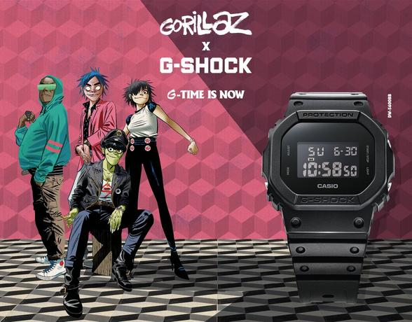 Gorillaz x Casio G-Shock at Ernest Jones