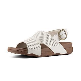 핏플랍 반도 샌들 어반 화이트 - FitFlop BANDO Sandal In Perforated Leather,Urban White