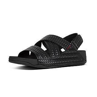 핏플랍 치 우븐 샌들 블랙 CHI - FitFlop CHI Sandal In Woven Embossed Leather,Black