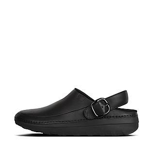핏플랍 고흐 남성 크록스 블랙 - FitFlop GOGH Pro Clog In Leather,Black