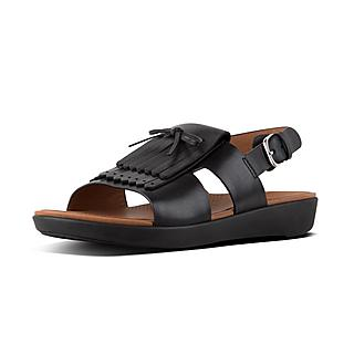 [BEST] 핏플랍 H-프린지샌들 (블랙) FitFlop H-BAR Leather Back-Strap Fringe Sandals, Black