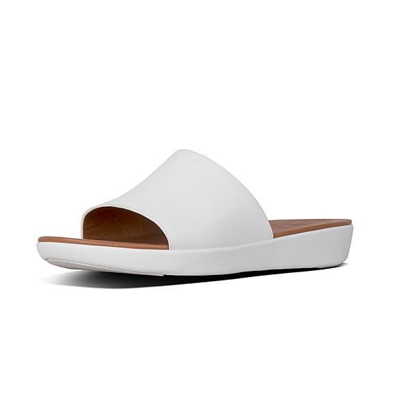 핏플랍 솔라 슬라이드 어반 화이트 FitFlop SOLA Leather Slides,Urban White