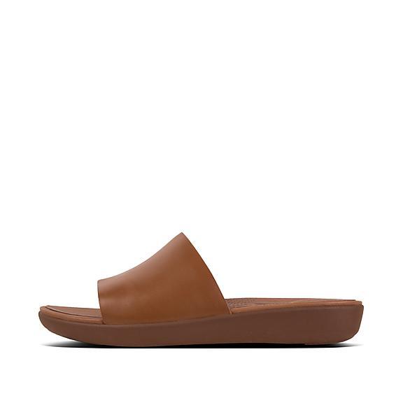 핏플랍 솔라 슬라이드 카라멜 FitFlop SOLA Leather Slides,Caramel