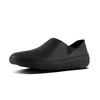 핏플랍 슈퍼로퍼 블랙 FitFlop SUPERLOAFER Perforated Leather Loafers,Black