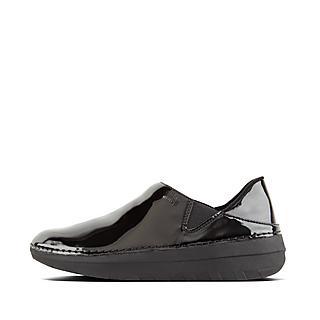핏플랍 슈퍼로퍼 유광 블랙 FitFlop SUPERLOAFER Patent Loafers,Black